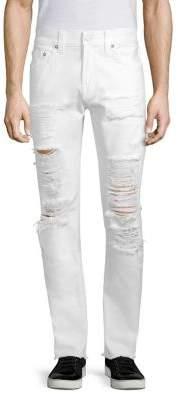 True Religion Rocco Slim-Fit Distressed Cotton Jeans