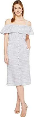 Lucky Brand Women's Off The Shoulder Midi Dress