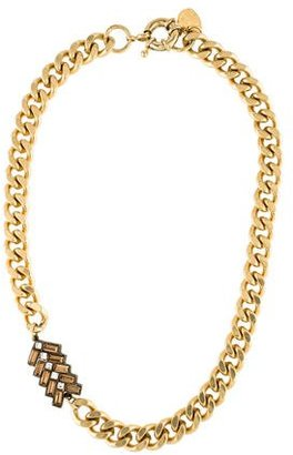 Giles & Brother Crystal Chain Link Necklace $175 thestylecure.com