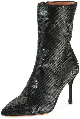 Tabitha Simmons Wendie Stretch Sequined Booties