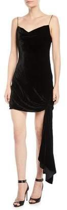 Cinq à Sept Ryder Velvet Draped Mini Dress