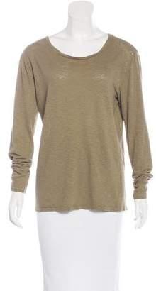 IRO Long Sleeve Scoop Neck T-shirt