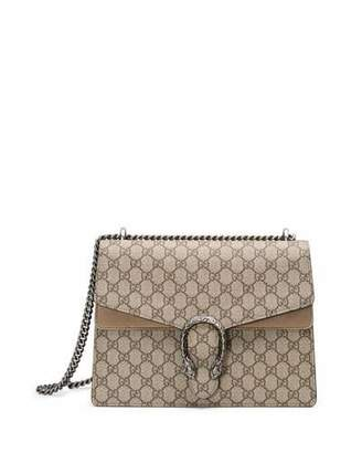 Gucci Dionysus GG Supreme Shoulder Bag, Ebony/Taupe $2,290 thestylecure.com