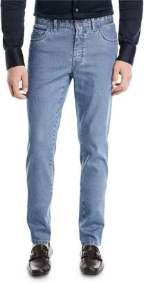 Brioni Straight-Leg Stretch Denim Jeans