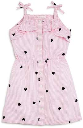 Design History Girls' Seersucker Heart-Print Dress - Little Kid