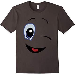 Wink emoji shirt   Funny Winking face Emoji tshirt