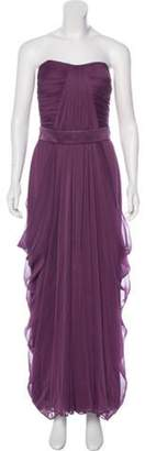 Lela Rose Strapless Evening Dress Rose Strapless Evening Dress