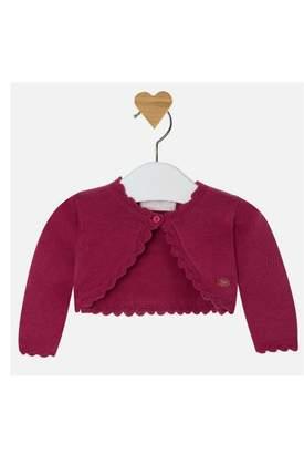 Mayoral Raspberry Knit Cardigan
