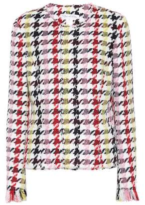 Oscar de la Renta Houndstooth wool-blend jacket