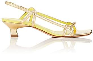 Derek Lam Women's Khali Metallic Leather Slingback Sandals - Gold, Or