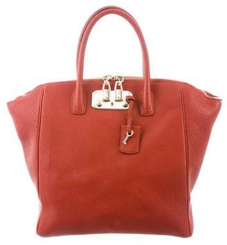 Pre Owned At Therealreal Vbh Leather Brera Tote