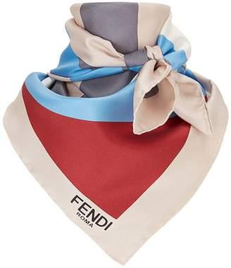 77c7183f649 Fendi geometric logo square scarf