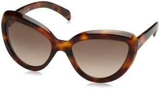Prada Women's Gradient PR08RS-TKR3D0-57 Cat Eye Sunglasses