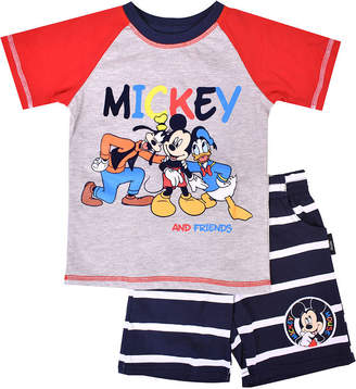 DISNEY MICKEY MOUSE Disney 2-pc. Mickey and Friends Short Set Toddler Boys