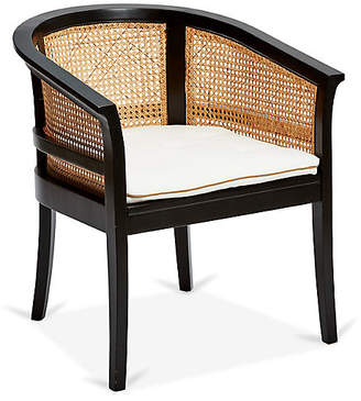 Harper Cane Chair - Ivory/Tan Linen - Mark D. Sikes