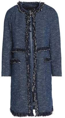 Theory Frayed Tweed Cotton-Blend Coat