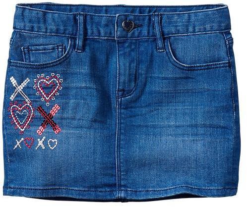 Gap 1969 Embellished Denim Skirt