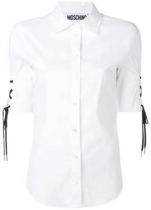 Moschino drawstring short sleeved shirt