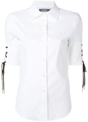 Moschino drawstring short sleeved shirt