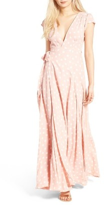 Women's Tularosa Sid Wrap Maxi Dress $220 thestylecure.com