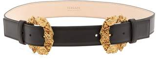 Tribute Baroque double-buckle leather belt
