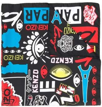 Kenzo motif printed scarf