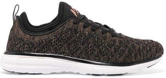 APL Athletic Propulsion Labs Techloom Phantom 3d Metallic Mesh Sneakers - Black