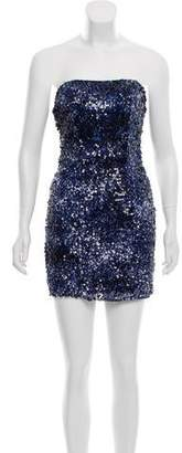 Alberto Makali Embellished Mini Dress