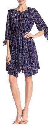 Collective Concepts Tie Sleeve Asymmetrical Dress