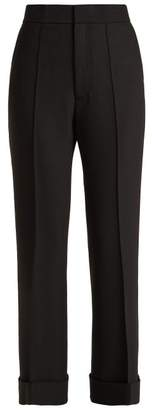 Helmut Lang Turn Up Cuff Flared Trousers - Womens - Black
