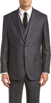 English Laundry 3Pc Wool Suit With Flat Front Pant