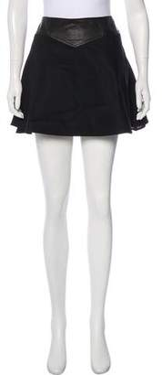 Thakoon Leather-Accented Mini Skirt