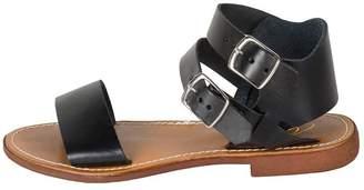 Lady Doc Black Ankle-Strap Sandal