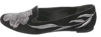 Alexander McQueen Suede Embroidered Loafers