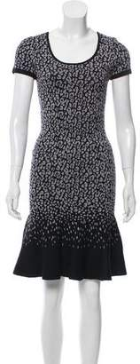 Rebecca Taylor Intarsia Knit Knee-Length Dress