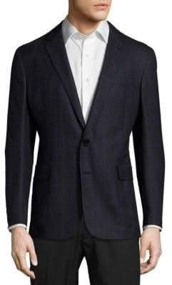 Ralph Lauren Plaid Notch-Lapel Cashmere Jacket