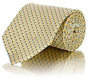 Salvatore Ferragamo Men's Ladybug-Print Silk Twill Necktie - Yellow