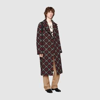 Gucci GG diamond wool coat