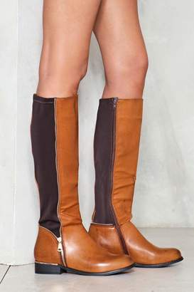 Nasty Gal Let It Ride Faux Leather Boot
