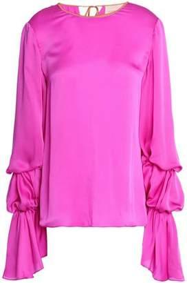 Roksanda Gathered Silk-Satin Blouse