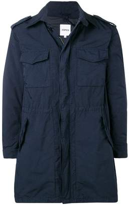 Aspesi flap pocket zipped coat