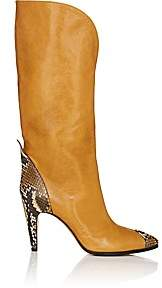 Givenchy Women's Leather & Python Knee Boots - Amber