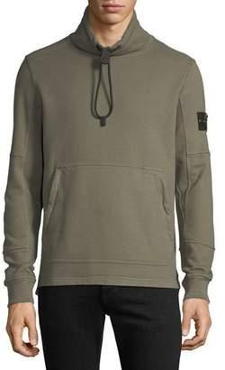 Stone Island Men's Mock-Neck Fleece Pullover Sweater