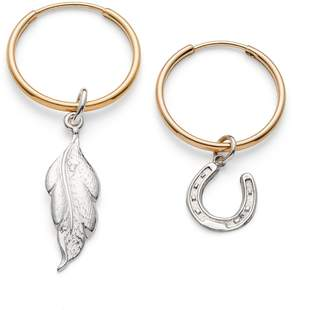 Harry Rocks - Hoop Horseshoe & Leaf Earrings
