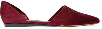 Vince - Nina Suede Point-toe Flats - Burgundy $295 thestylecure.com