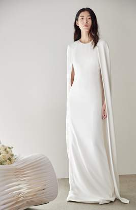 Stella McCartney F18 Violet Cape Wedding Dress