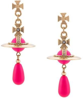 Vivienne Westwood Neon pearl earrings