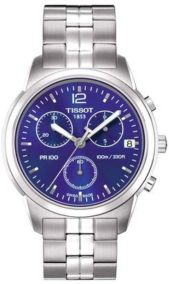 Tissot Men's PR 100 Chronograph Bracelet Watch, 40mm