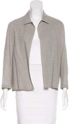 Max Mara Virgin Wool Open Front Jacket