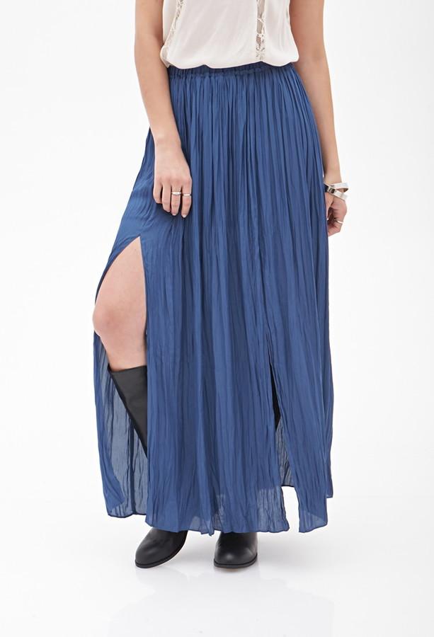 Forever 21 contemporary m-slit maxi skirt